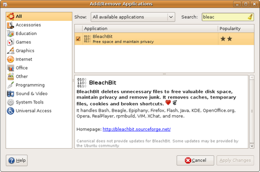 ubuntu904-addremoveprograms-bleachbit